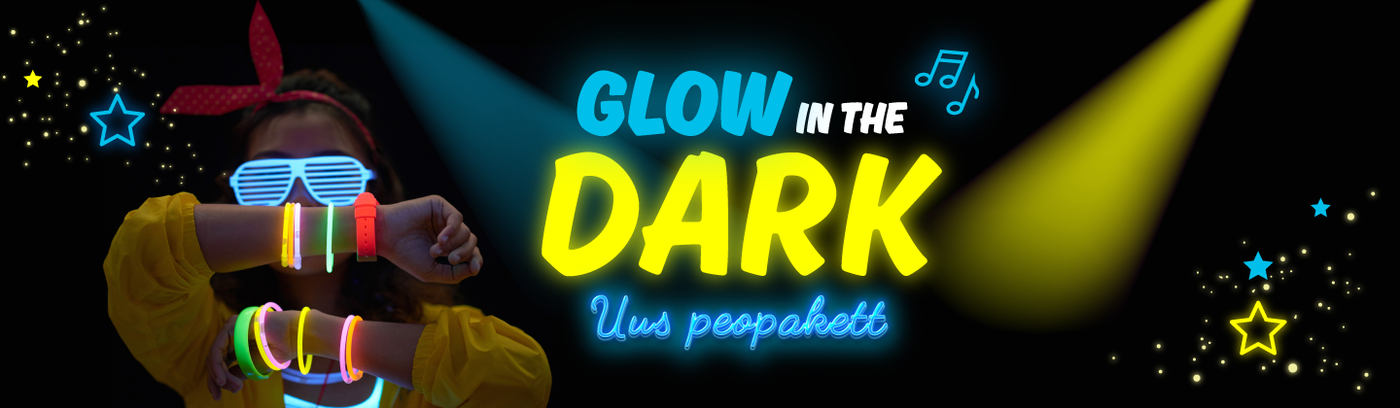 Uus glow in the dark peopakett